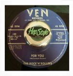 "45 Re✦ THE ROCK'N'ROLLERS ✦ ""For You"" -Super Cool Buddy Holly Style Bopper. Hear♫"